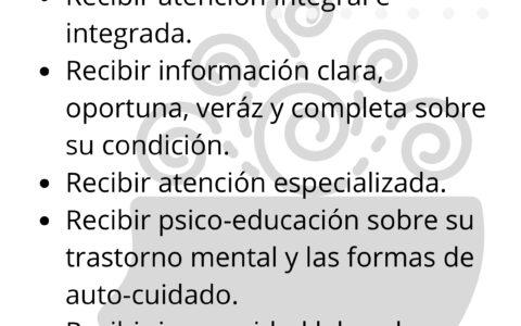 Derechos como Paciente de Salud Mental